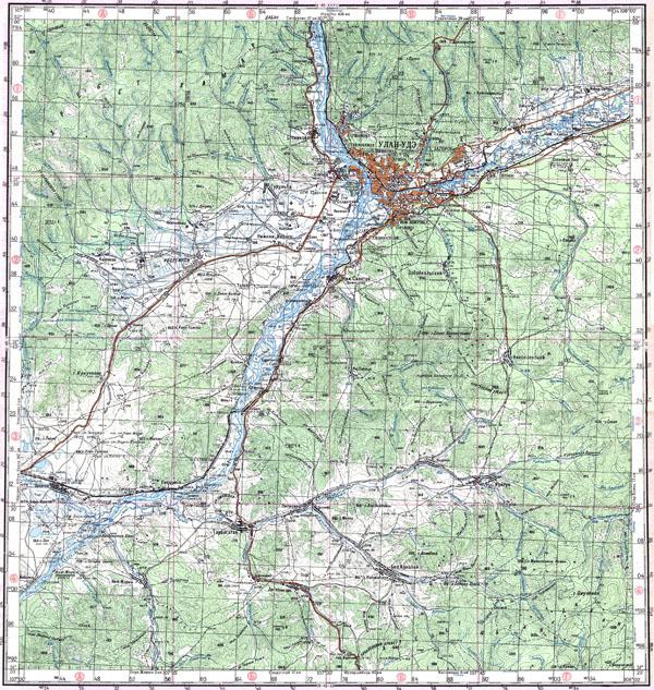 Подробная топографическая карта г