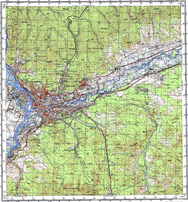 Большая подробная топографическая